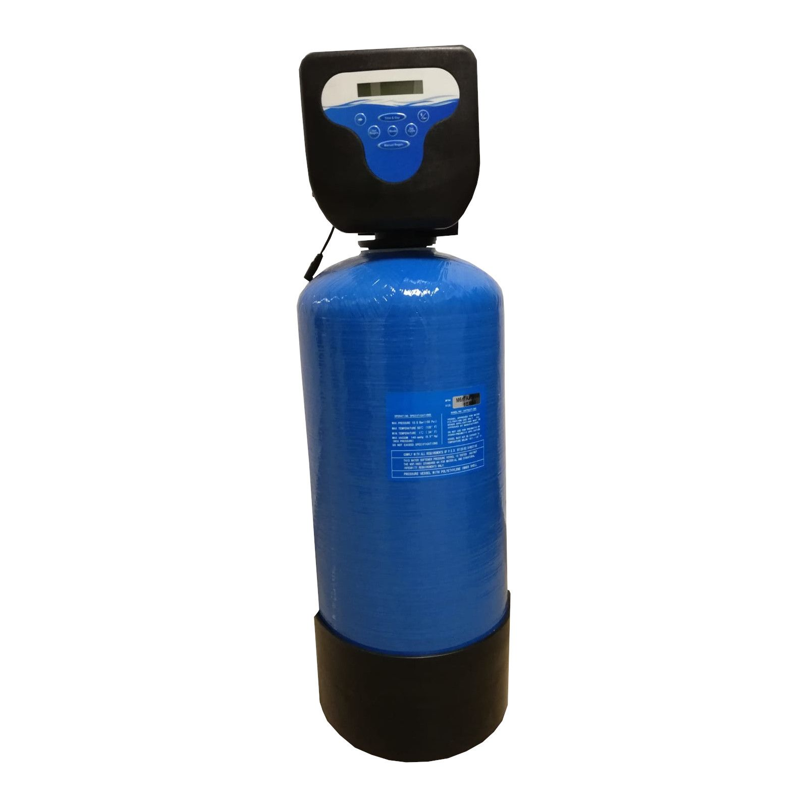 Filtru apa automat cu zeolit Aqua DM 15, Debit 1.35 mc/h, Capacitate filtrare 25.000 litri, Cartus din Rasina  - AquaFilters.ro