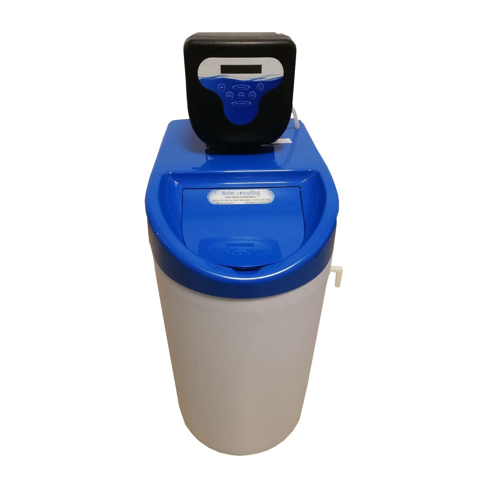 Dedurizator Compact Midi 20-DM, Debit 1.2 mc/h, Capacitate filtrare 45.000 litri, Cartus din Rasina Cationica - AquaFilters.ro