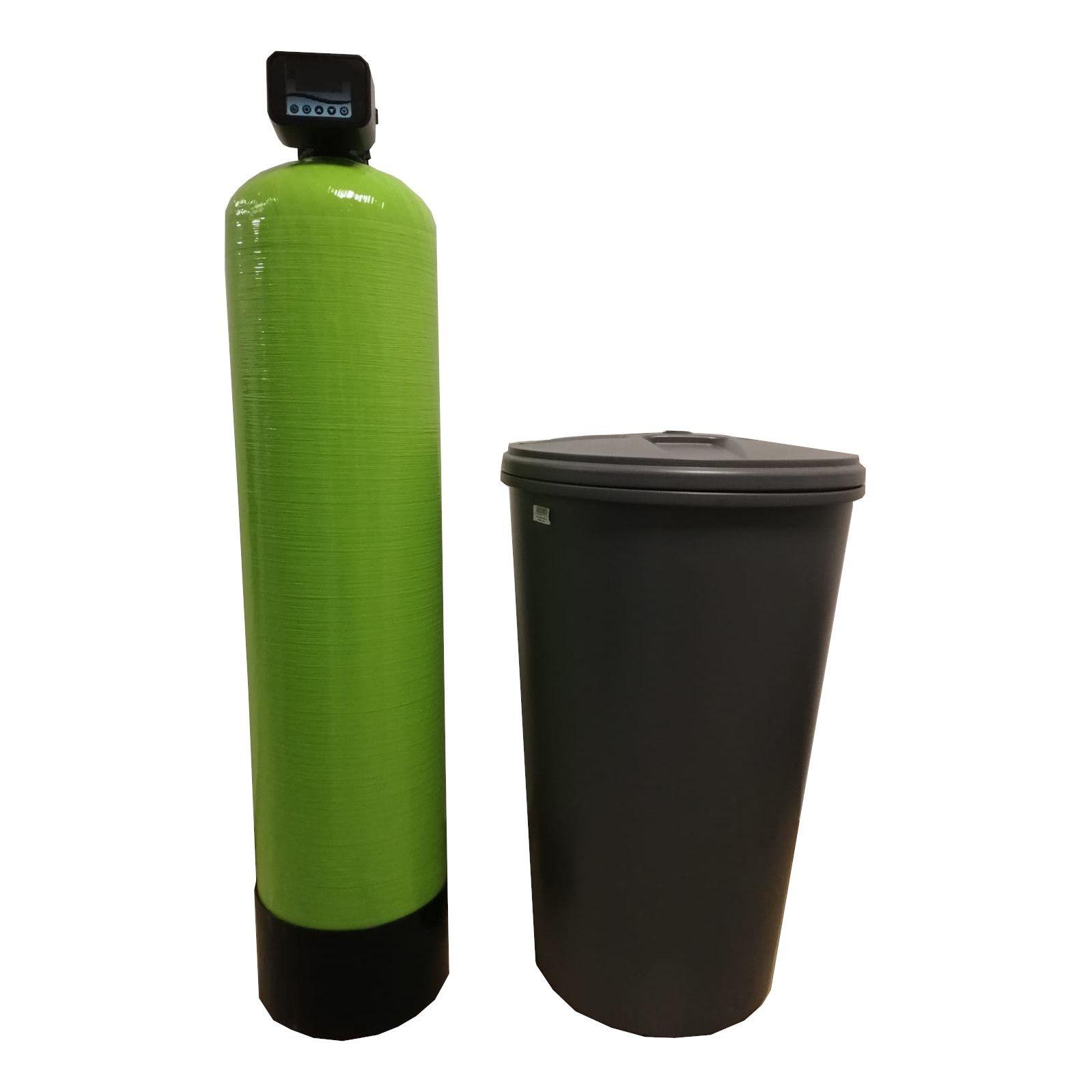 Dedurizator Simplex Aqua 75-S10C, Debit 4.5 mc/h, Capacitate filtrare 350.000 litri, Cartus din Rasina Cationica - AquaFilters.ro